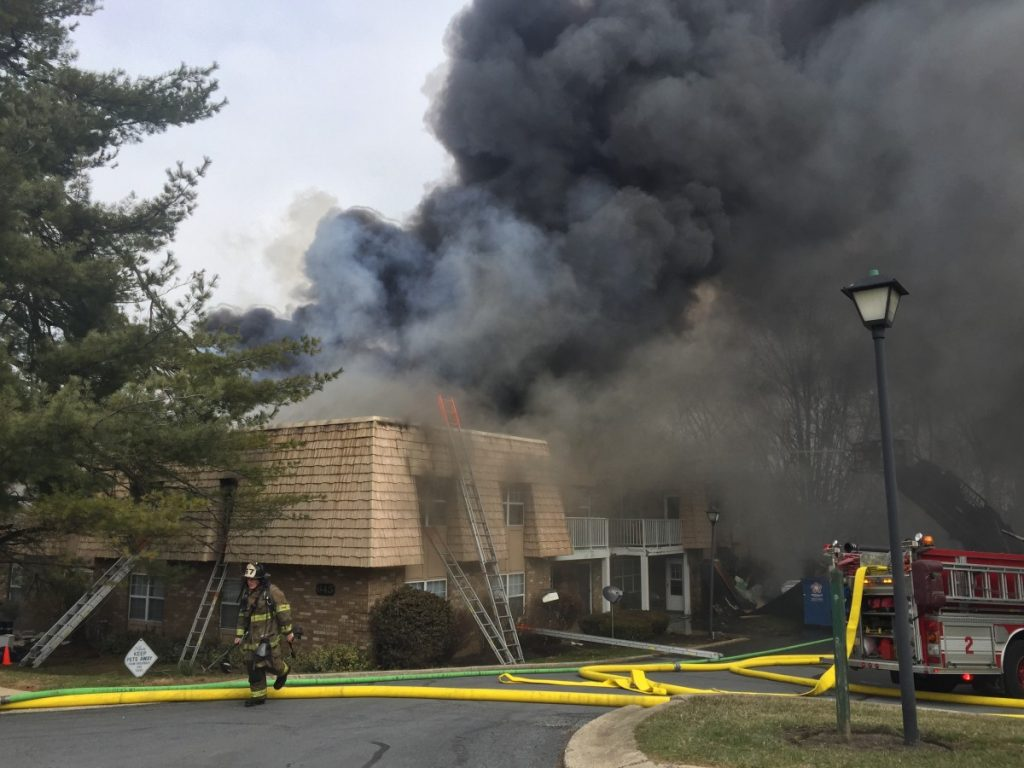 Engine, Tower & Fire Police Work Lancaster Township Apartment Fire: 600 Wyncroft Lane
