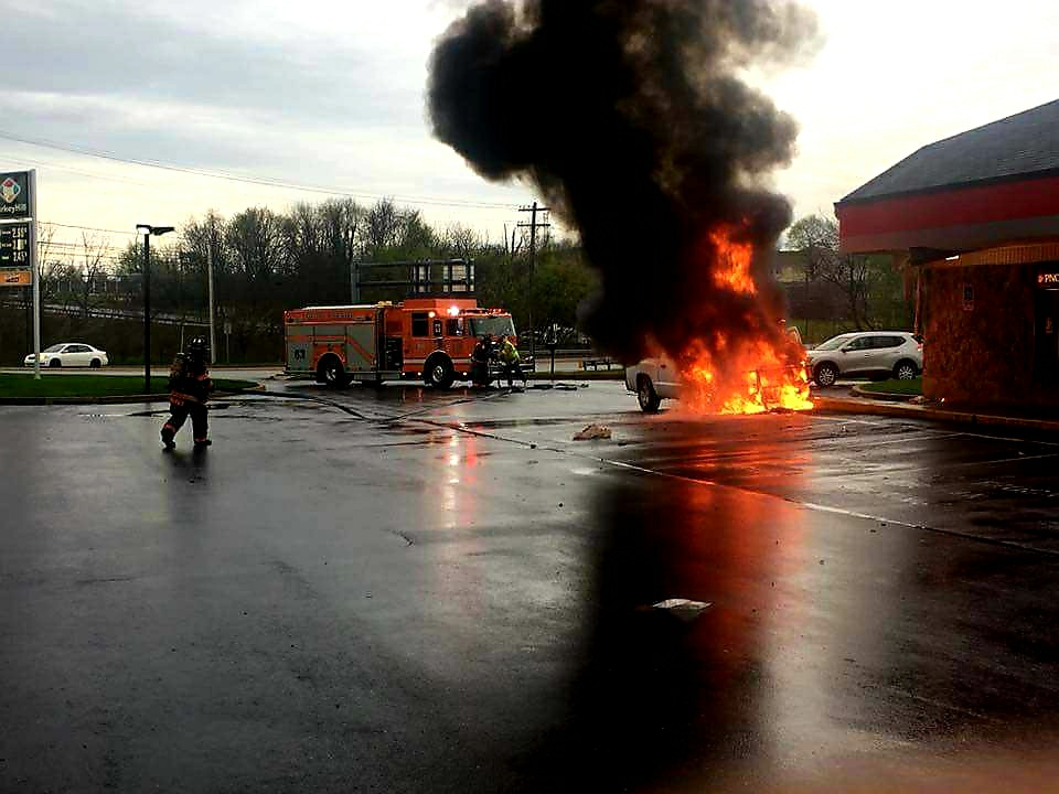 Automobile Fire Upgraded to 1st Alarm