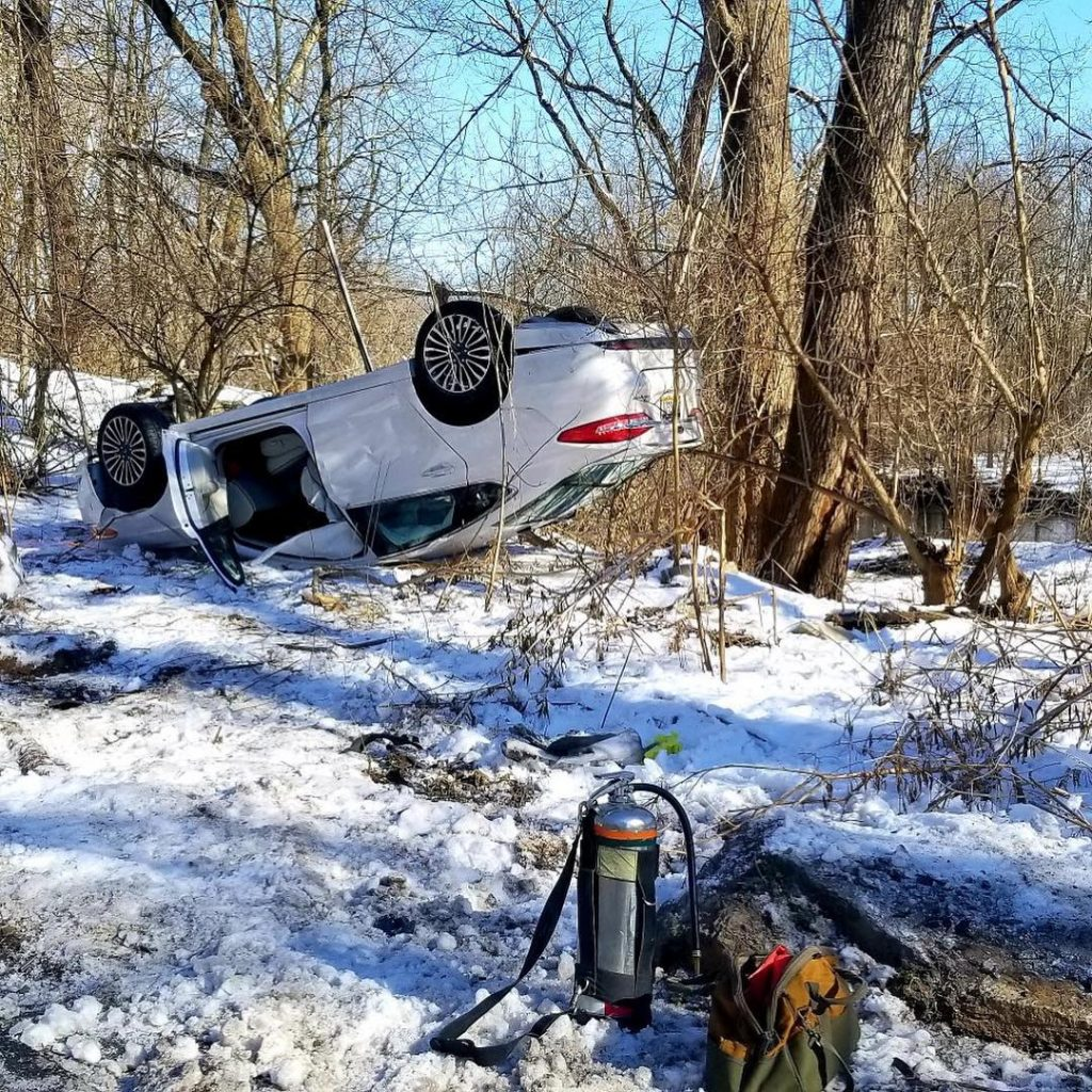 One Overturned in Lancaster Township
