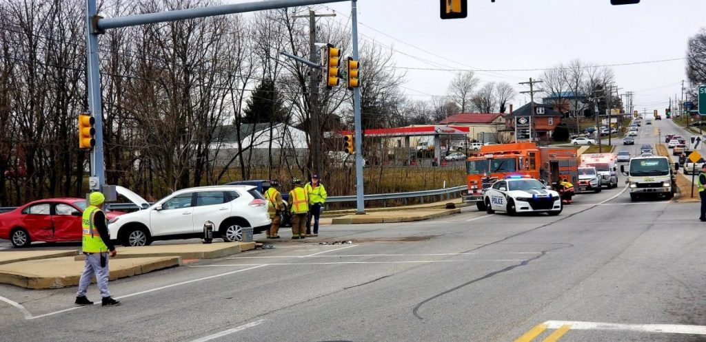 Two Vehicle Crash in Front of Walmart