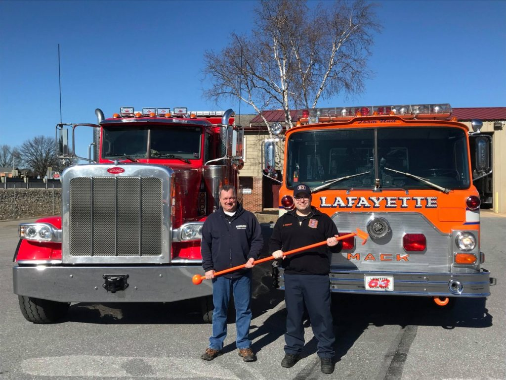 """Lafayette Receives Donation of a """"Tready Hook"""""""