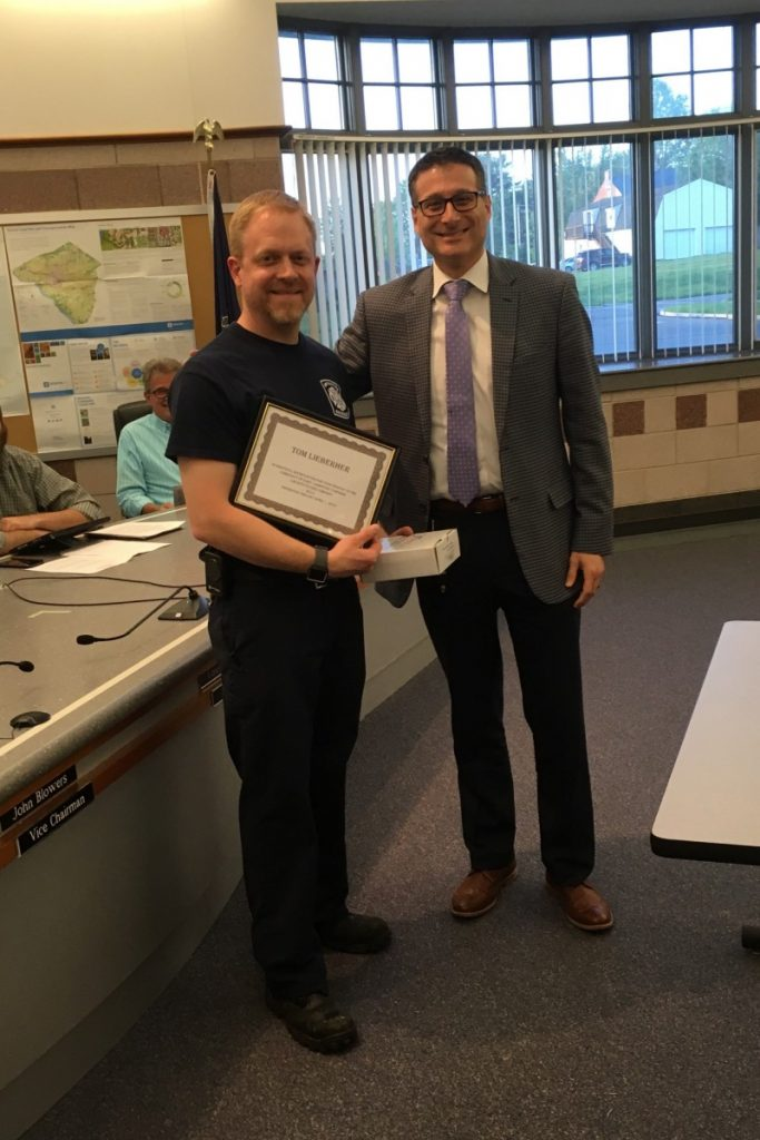 FF Lieberher Awarded Firefighter of the Year