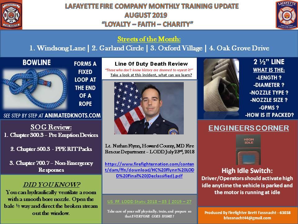 August Training Update